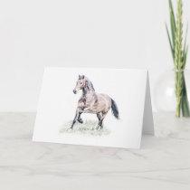 Welsh D Horse Birthday Card