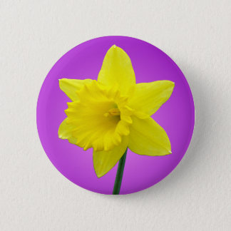 Welsh Daffodil - III - Round Pinback Button