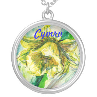 Welsh Daffodil Silver Plated Necklace