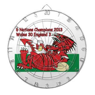 Welsh Dragon, 6 Nations Champions, Wales v England Dartboards