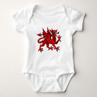 Welsh dragon baby bodysuit