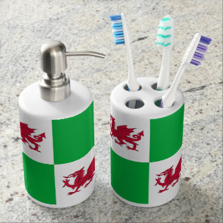 Welsh dragon bath set