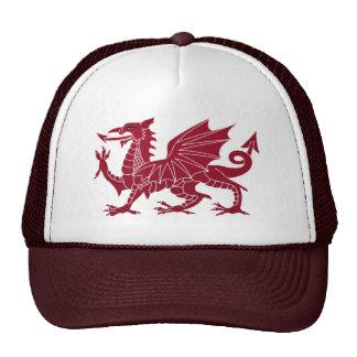 Welsh Dragon Beautiful Medieval trucker hat