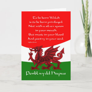 Welsh cards greeting photo cards zazzle welsh dragon birthday card poem by brian harris m4hsunfo