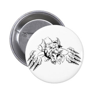 Welsh Dragon Breaking Out Button