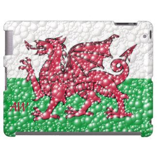 Welsh Dragon Bubble Texture Flag