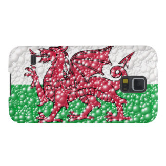 Welsh Dragon Bubble Texture Flag Galaxy S5 Cases
