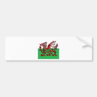 Welsh Dragon Bumper Sticker