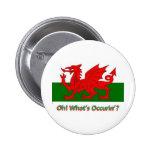 welsh dragon buttons