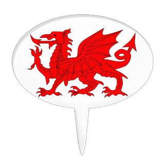 Welsh Dragon Cake Topper