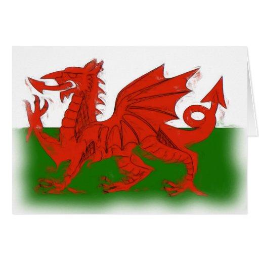 Welsh Dragon Card