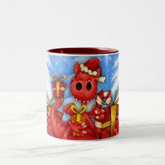 Welsh Dragon Christmas Mug - Welsh Mug