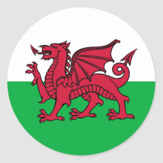 Welsh Dragon Classic Round Sticker