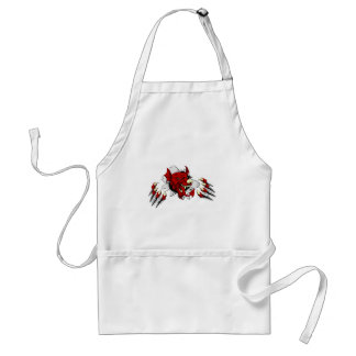 Welsh Dragon Clawing Through Adult Apron