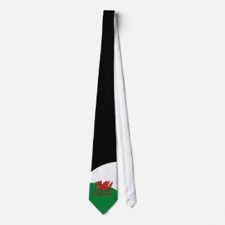 Welsh Dragon Cymru Tie Green Red White Wales