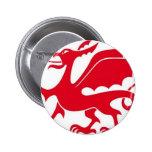 Welsh dragon design pinback button