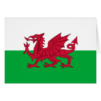 Welsh dragon flag card