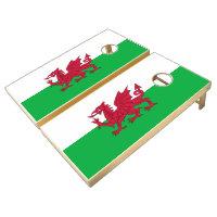 Welsh dragon flag cornhole set