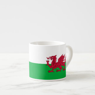 Welsh dragon flag espresso cup
