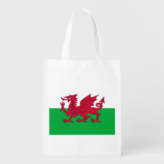 Welsh dragon flag grocery bags