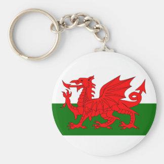 Welsh Dragon Flag Keychain