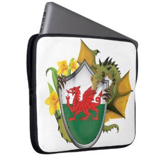 Welsh Dragon Flag Laptop Computer Sleeves