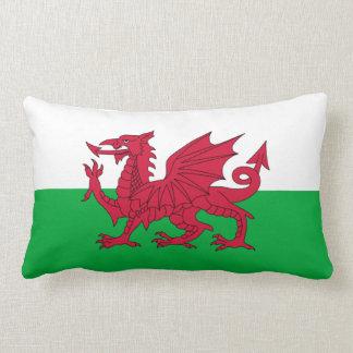 Welsh dragon flag lumbar pillow