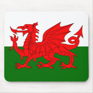 Welsh Dragon Flag Mouse Pad