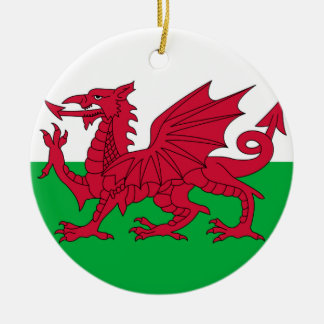 Welsh dragon flag ornament