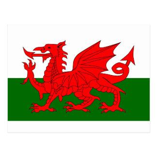 Welsh Dragon Flag Postcard
