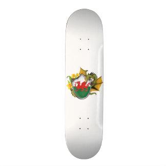 Welsh Dragon Flag Skateboard