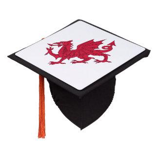Welsh dragon graduation cap topper
