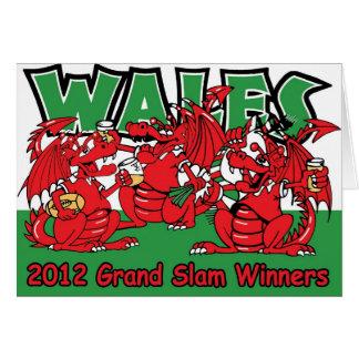 Welsh Dragon Grand Slam Winners 2012 Greeting Cards