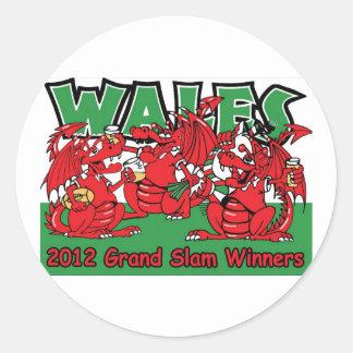 Welsh Dragon, Grand Slam Winners 2012 Sticker