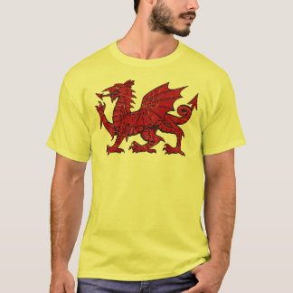 Welsh Dragon Grunge - Men's Eco T-Shirt