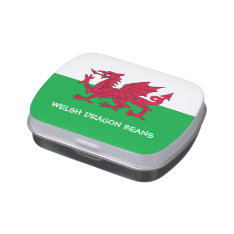 Welsh Dragon Jelly Beans Candy Tin at Zazzle