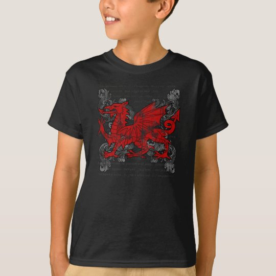 Welsh Dragon Kids' Dark Shirt