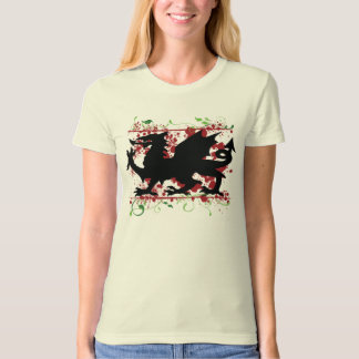 Welsh Dragon Ladie's Fitted Organic T-Shirt