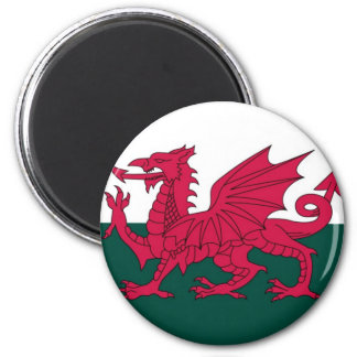 Welsh Dragon 2 Inch Round Magnet