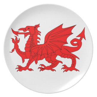 Welsh Dragon Melamine Plate