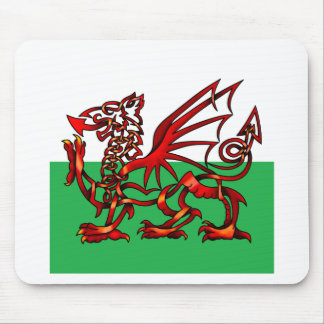Welsh Dragon Mouse Pads
