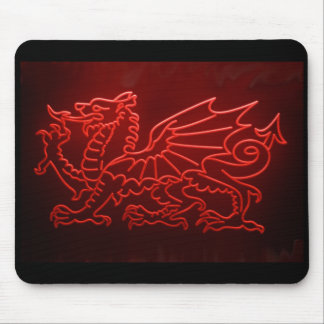 Welsh Dragon Neon Mosepad, Mousemat Mouse Pad