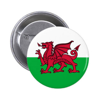 Welsh Dragon Pinback Buttons