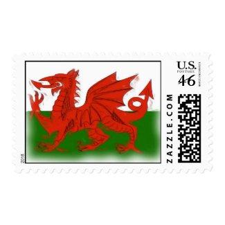Welsh Dragon Postage stamp