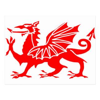 Welsh Dragon Postcard