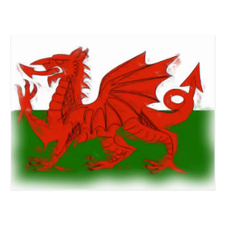 Welsh Dragon Postcard