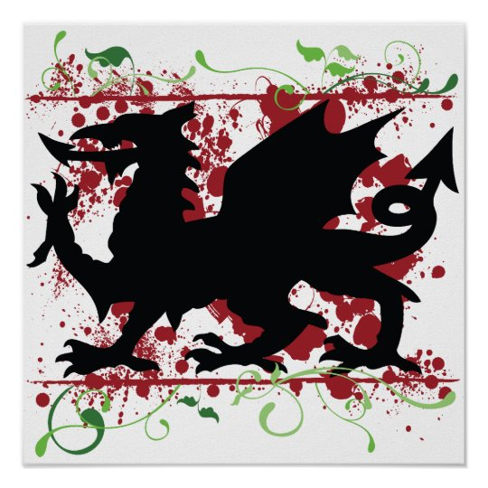 Welsh Dragon Poster