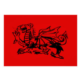 Welsh Dragon posters. Poster