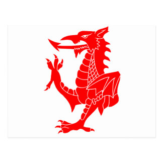 Welsh Dragon Rampant Postcard