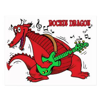 Welsh Dragon Rockin Postcard